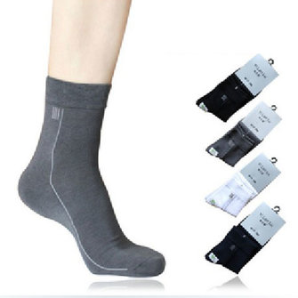 Men's Classic Business Socks Bamboo Fiber Socks 4 Colors Free Size
